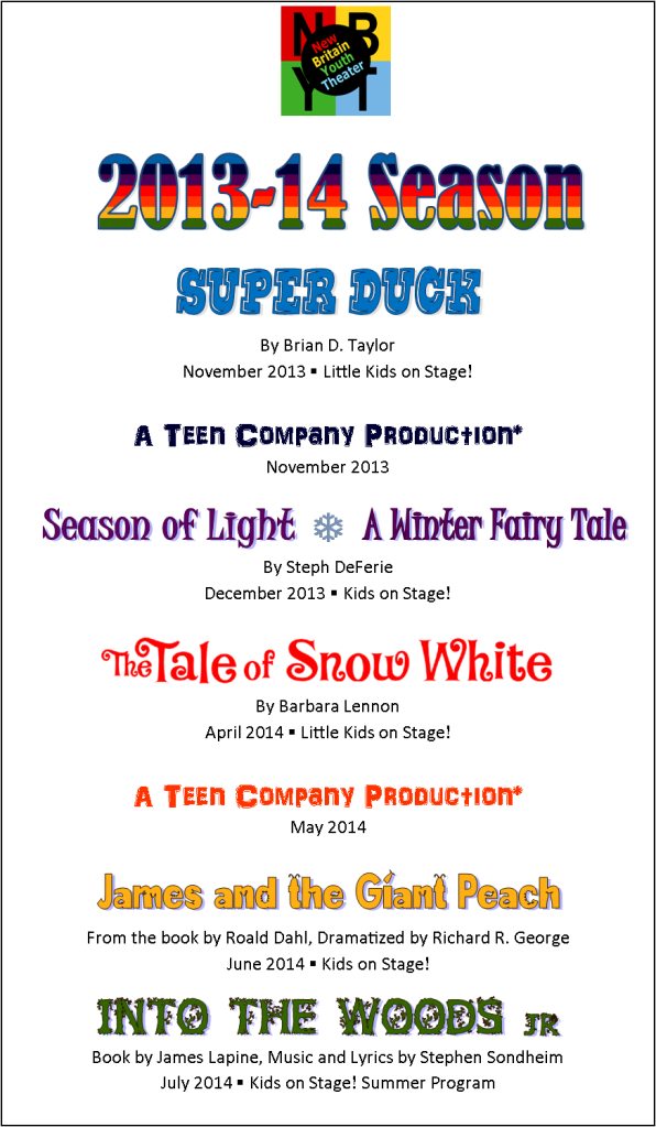 2013-14 productions