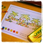 Marker and crayon set design for Once on This Island Jr.