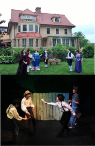 "Top, ""Midsummer"" at NBMAA; bottom, ""Tom Sawyer"" at the Carriage House"